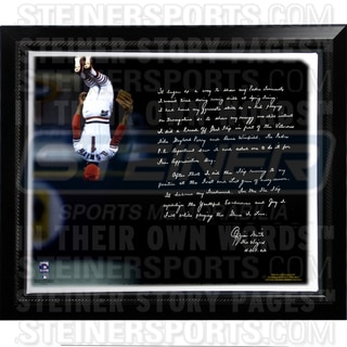 Ozzie Smith Facsimile 'Flip' Framed Stretched 22x26 Story Canvas