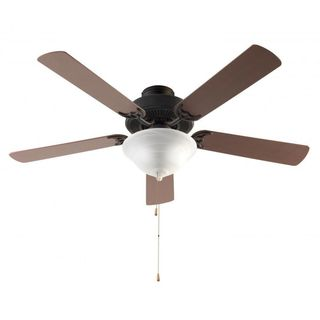 Cambridge 3-Light Rubbed Oil Bronze 52 in. Ceiling Fan with White Glass