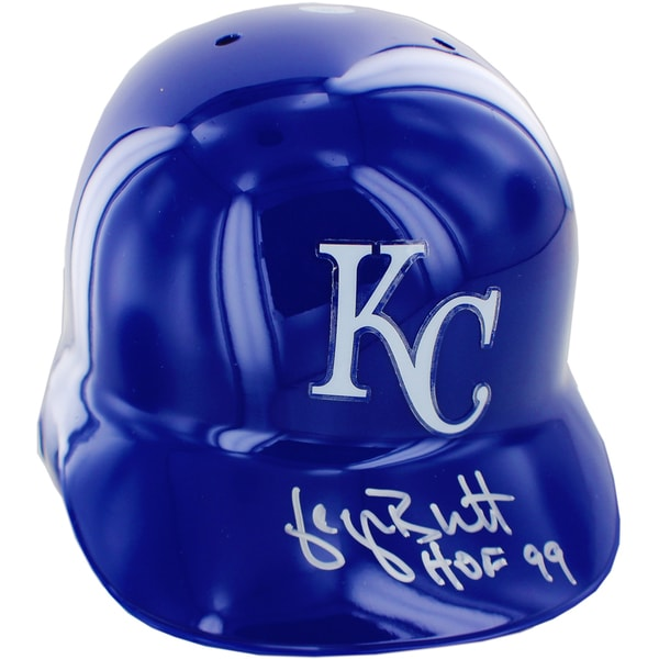 "George Brett Signed Kansas City Royals Left Ear Batting Helmet w/ HOF 99""Insc."