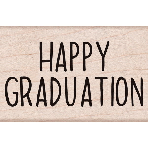 "Hero Arts Mounted Rubber Stamp 2.25""X1.5""-Happy Graduation Message 15154182"