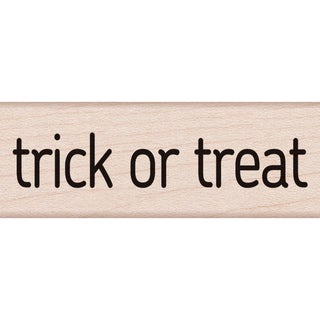 "Hero Arts Mounted Rubber Stamp 2.75""X1""-Trick Or Treat Message"