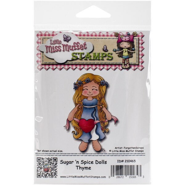 "Little Miss Muffet Cling Stamp 3.5""X2.5""-Sugar 'n Spice Dolls Thyme"