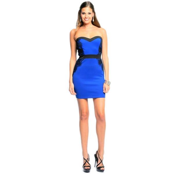 Sara Boo Blue Strapless Dress