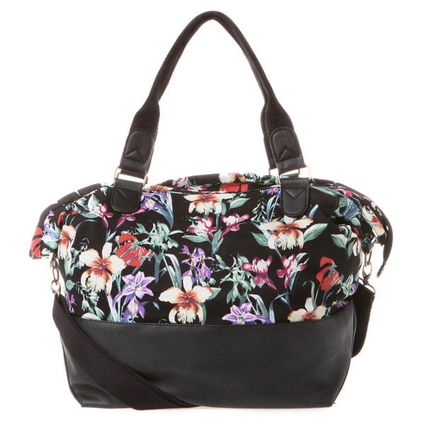 Madden Girl Black Floral Weekender