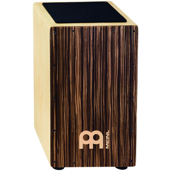 Meinl Percussion CAJ3SU-M Striped Umber String Cajon, Medium Size