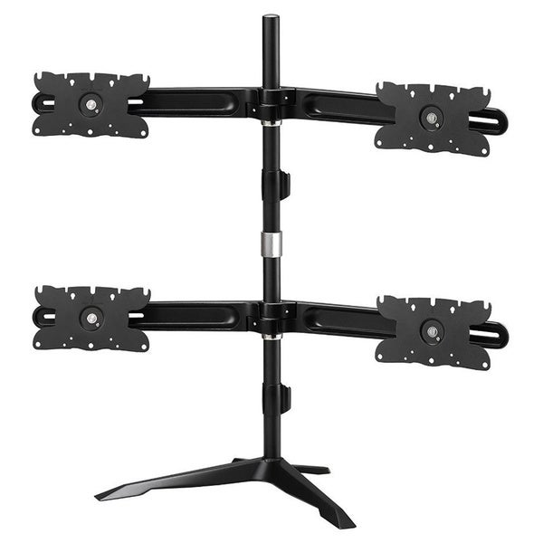 Dyconn Albatross (DE734S-S) Vanguard Series Quadruple Monitor Gaming Mount with Independent Arm Height Adjustment