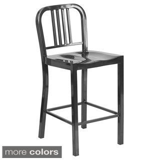 "Offex 24"" Metal Counter Height Stool"