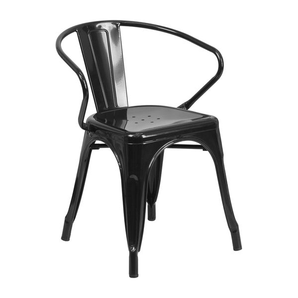 Offex Metal Chair with Arms