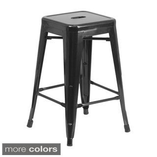 "Offex 24"" Backless Metal Counter Height Stool"