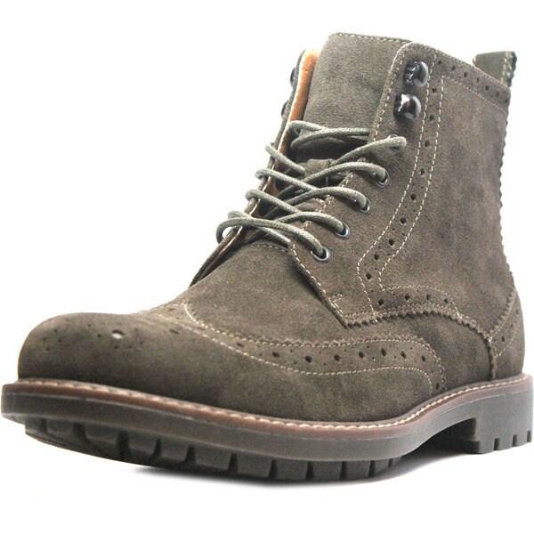 Mens Suede Wingtip Boots Camel Suede Wingtip Boots