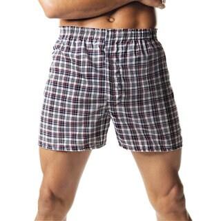 Hanes Men's Tartan Boxers with Comfort Flex Waistband (Pack of 2)