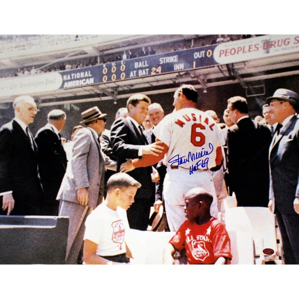 Stan Musial Signed With JFK 16x20 Photo w/ HOF insc (Stan the Man Auth)