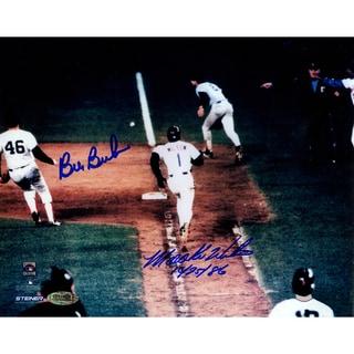 "Bill Buckner/Mookie Wilson Dual Signed 8x10 Photo w/""10/25/86""Insc."