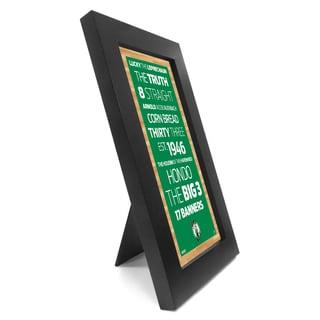 Boston Celtics Desktop/Wall Hangable Subway Sign 4x8 Framed Photo