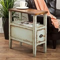 Sally Weathered Finish Side Table (Indonesia)