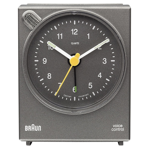 Braun Classic Voice Activated Alarm Grey Clock
