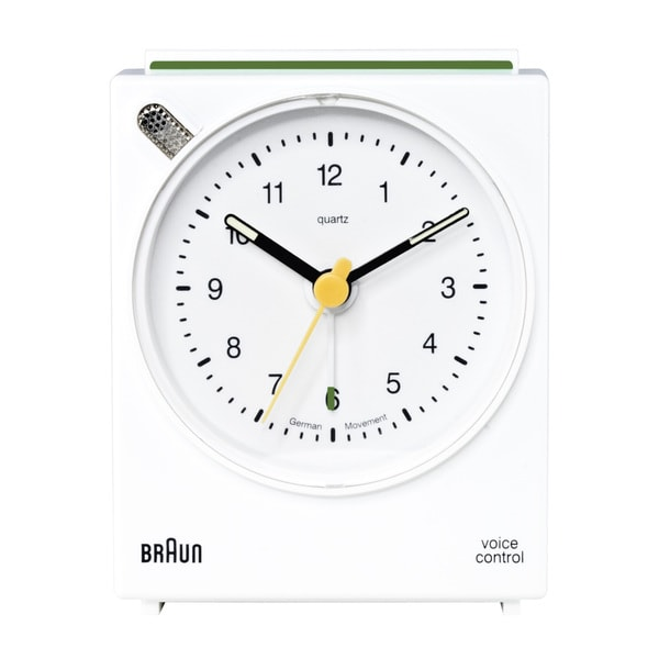 Braun Classic Voice Activated Alarm White Clock