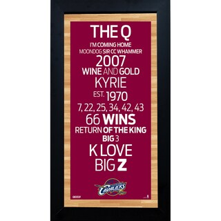 Cleveland Cavaliers Subway Sign 6x12 Framed Photo