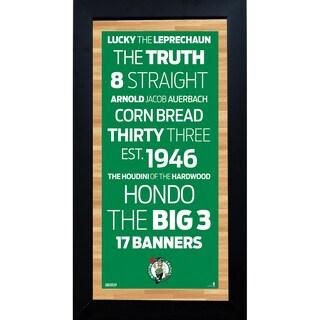 Boston Celtics Subway Sign 6x12 Framed Photo