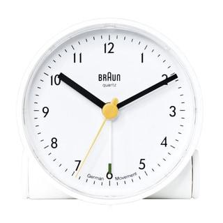 Braun Classic Quiet WhiteGerman Quartz Analog Clock