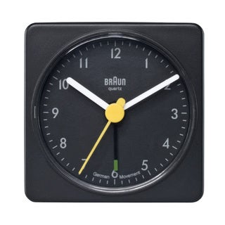 Braun Classic Quiet German Quartz Analog Black Clock