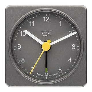 Braun Classic Quiet German Quartz Analog Grey Clock