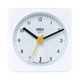 Braun Classic Quiet German Quartz Analog White Clock
