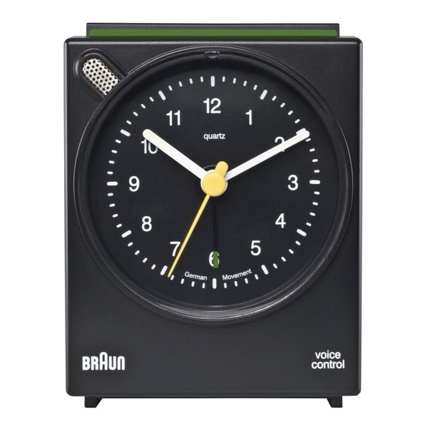 Braun Classic Voice Activated Alarm Black Clock