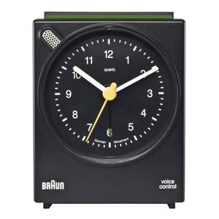 Braun Classic Voice Activated Alarm Black Clock