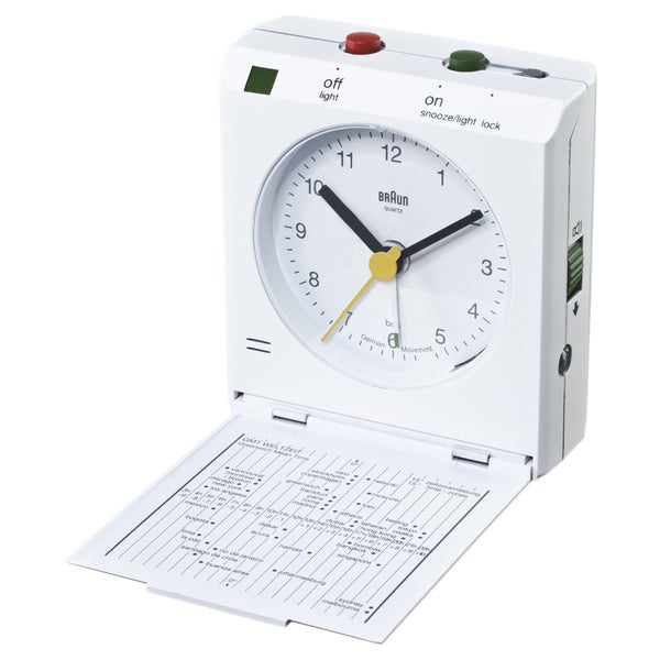 Braun Classic Motion Activated Snooze White Clock