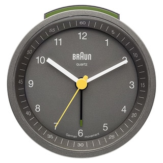 Braun Classic Quiet German Precision Grey Alarm Clock