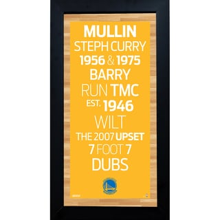 Golden State Warriors Subway Sign 6x12 Framed Photo