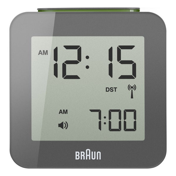Braun Digital LCD Grey Global Radio Controlled Alarm Clock