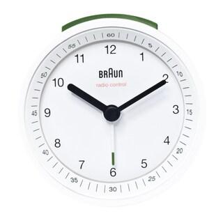 Braun Classic Quiet German Precision White Alarm Clock