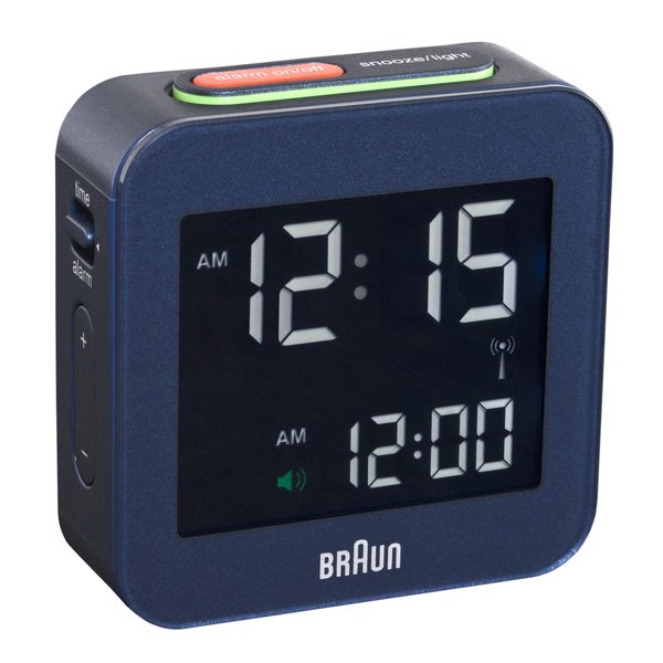 Braun Digital LCD Blue Global Radio Controlled Alarm Clock