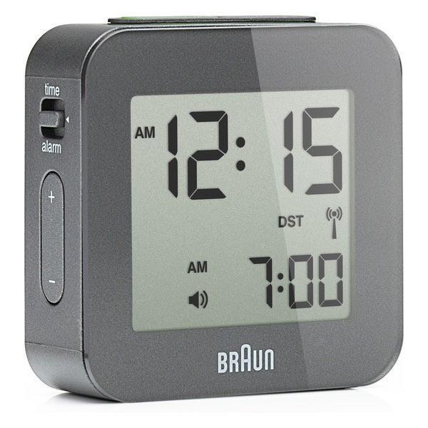 Braun Digital LCD Grey Alarm Clock 008