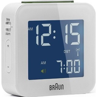 Braun Digital LCD White Global Radio Controlled Alarm Clock