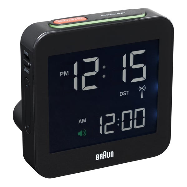 Braun Digital LCD Black Alarm Clock 009