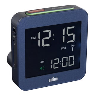 Braun Digital LCD Global Radio Controlled Blue Alarm Clock