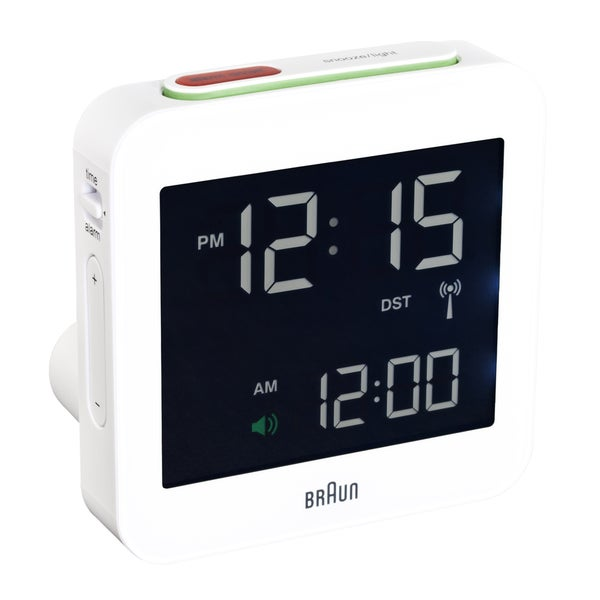 Braun Digital LCD White Alarm Clock 009