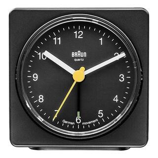 Braun Classic Quiet German Precision Quartz Black Squared Alarm Clock