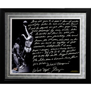 Walt Frazier Facsimile 'The Willis Reed Game' Framed Metallic 16x20 Story Photo