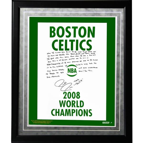 Paul Pierce Facsimile '2008 Champions Banner' Framed Metallic 16x20 Story Photo