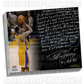 Robert Horry Facsimile ' Big Shot Rob' Stretched 22x26 Story Canvas