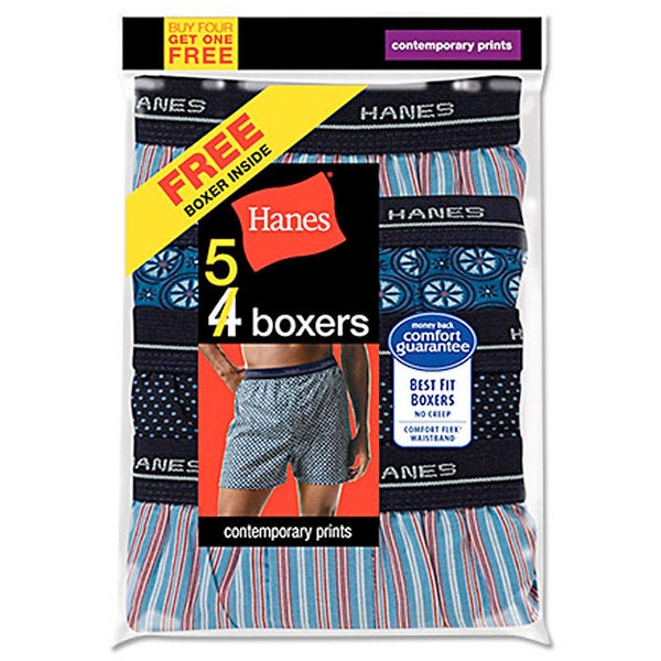 Hanes Men's Red Label Comfort Flex Woven Boxers