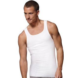 Hanes Men's Tagless ComfortSoft White A-Shirt (Pack of 6)
