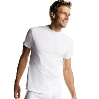 Hanes Men's White Tagless Crewneck Undershirt (Pack of 6)