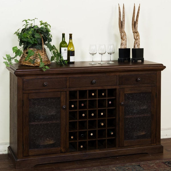 Sunny Designs Savannah Walnut 30-bottle Server