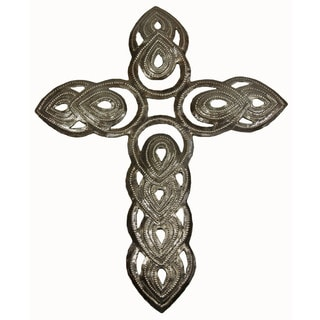 Large Open Tear Drop Cross Wall Art (Haiti)