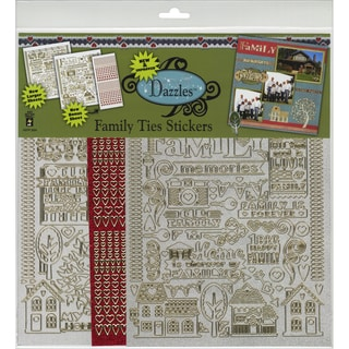 Dazzles Stickers 2/Pkg-Family Ties